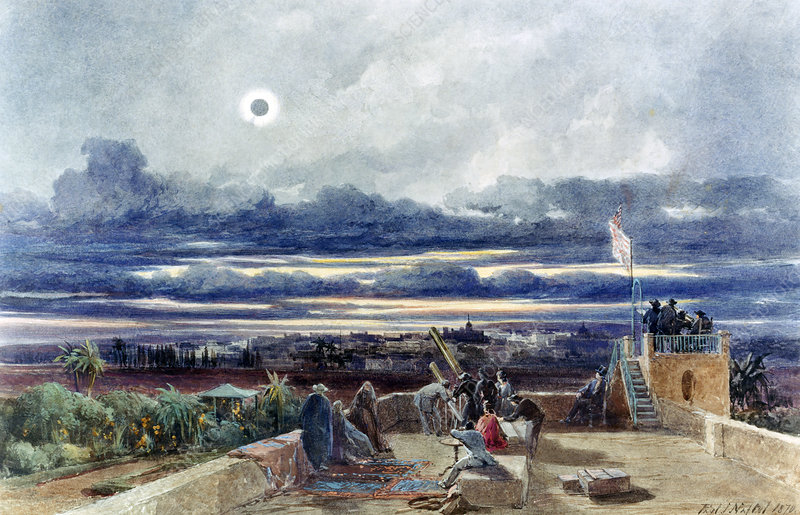 Eclipse in 1870