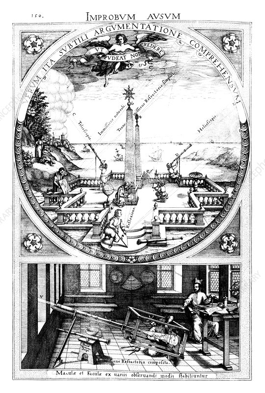 Sun projection research, 17th-century