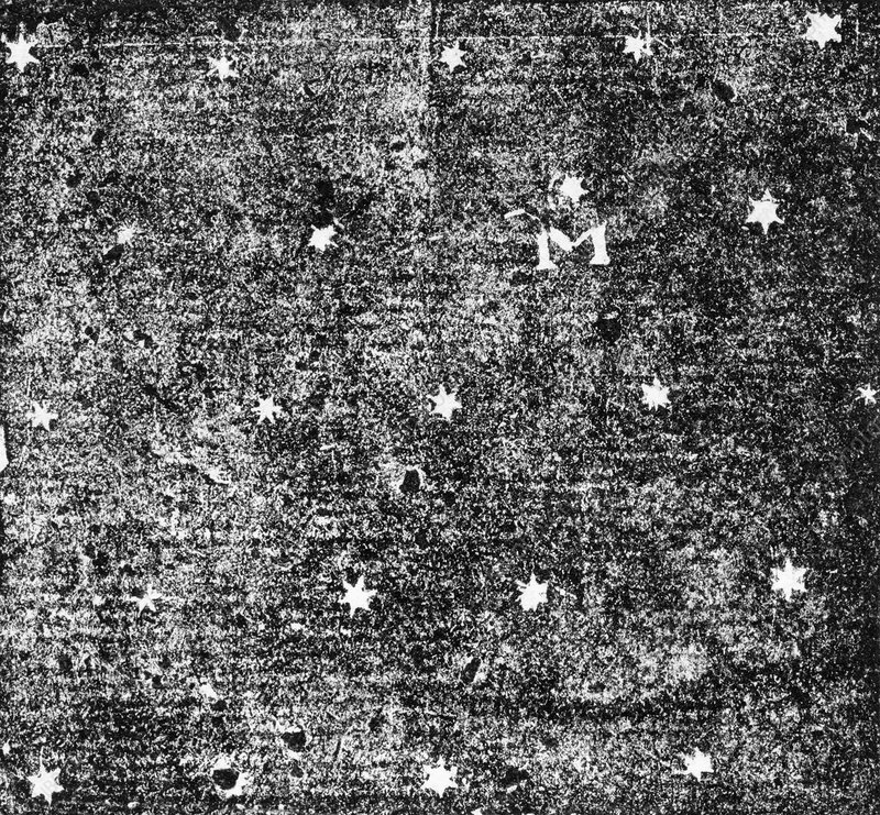 'M' picture showing pattern of stars