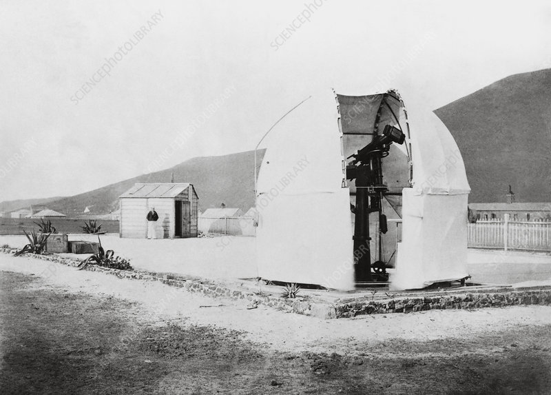 Mars astronomy, Ascension Island, 1877