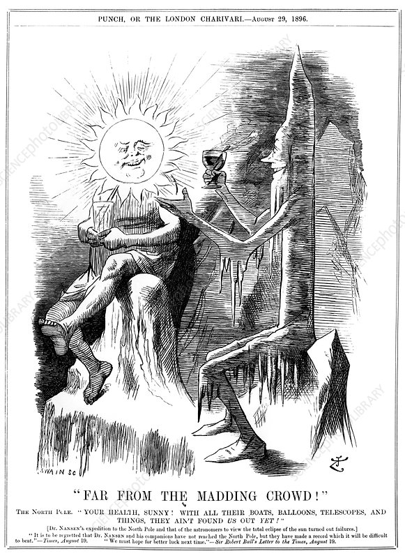 Eclipse expedition cartoon, 1896