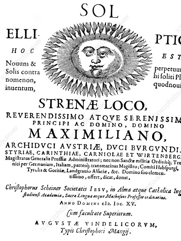 The Elliptical Sun by Scheiner, 1615
