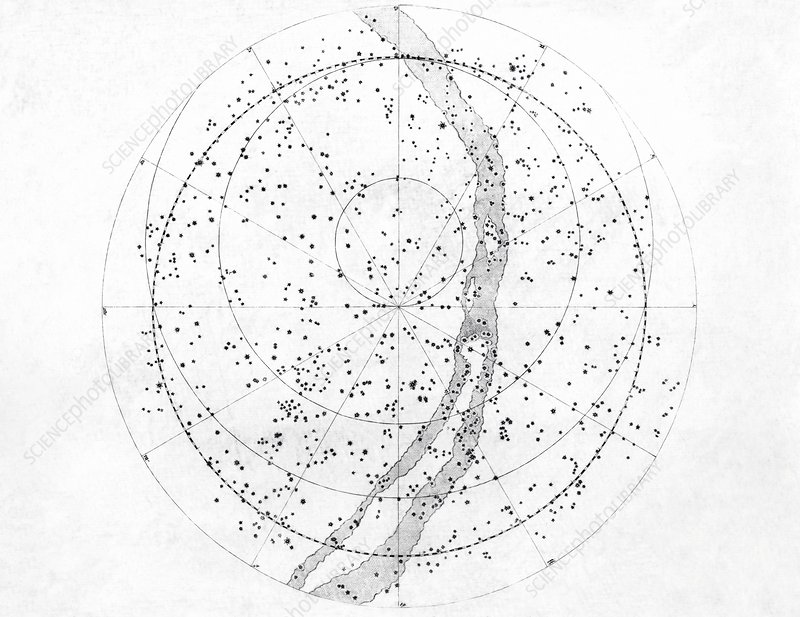 Northern hemisphere sky map, 1603