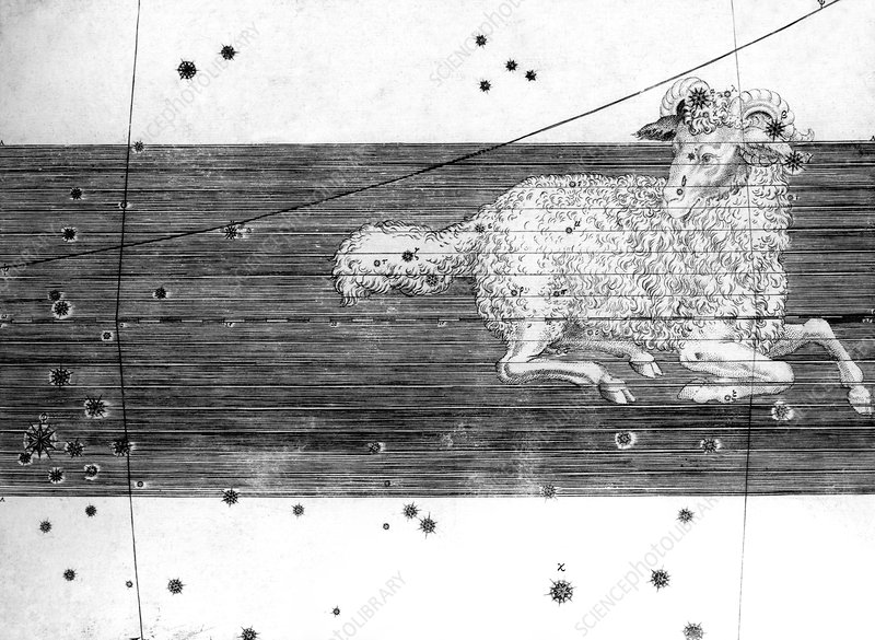 Aries constellation, 1603