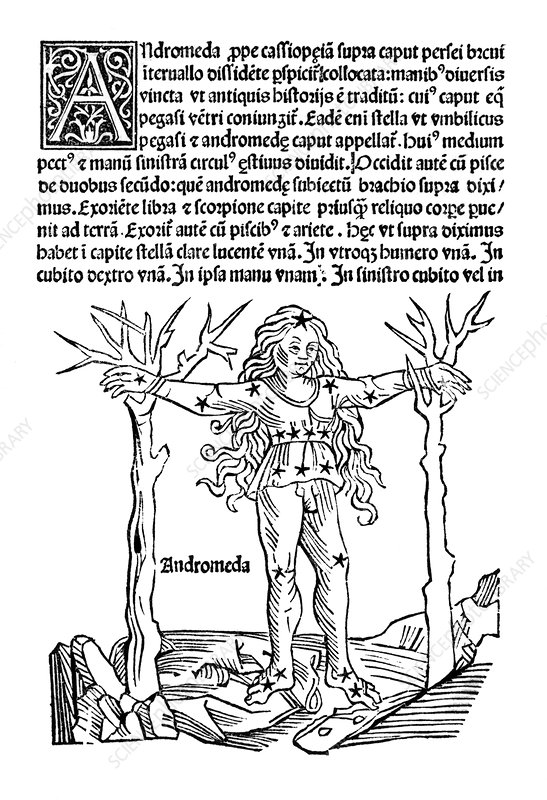 Andromeda constellation, 1482