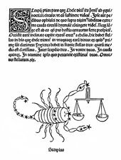 Scorpio constellation, 1482
