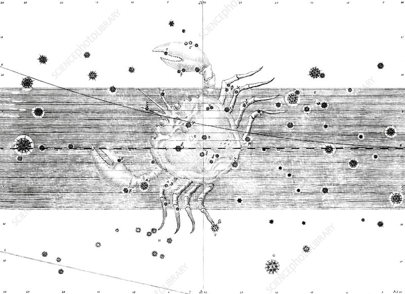 Cancer constellation, 1603