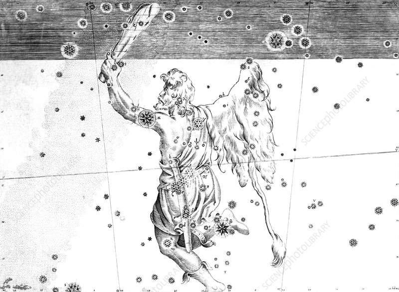 Orion constellation, 1603