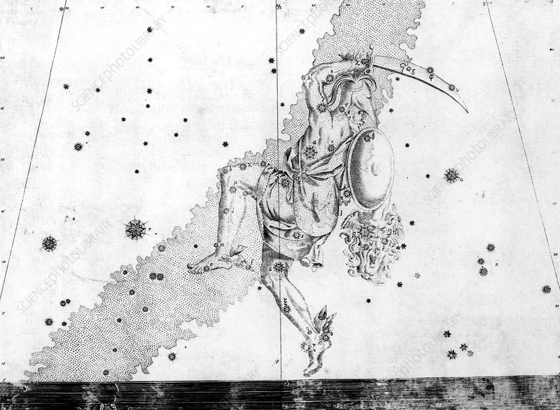Perseus constellation, 1603