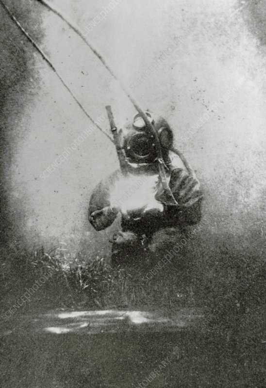 One of the first photographs taken underwater