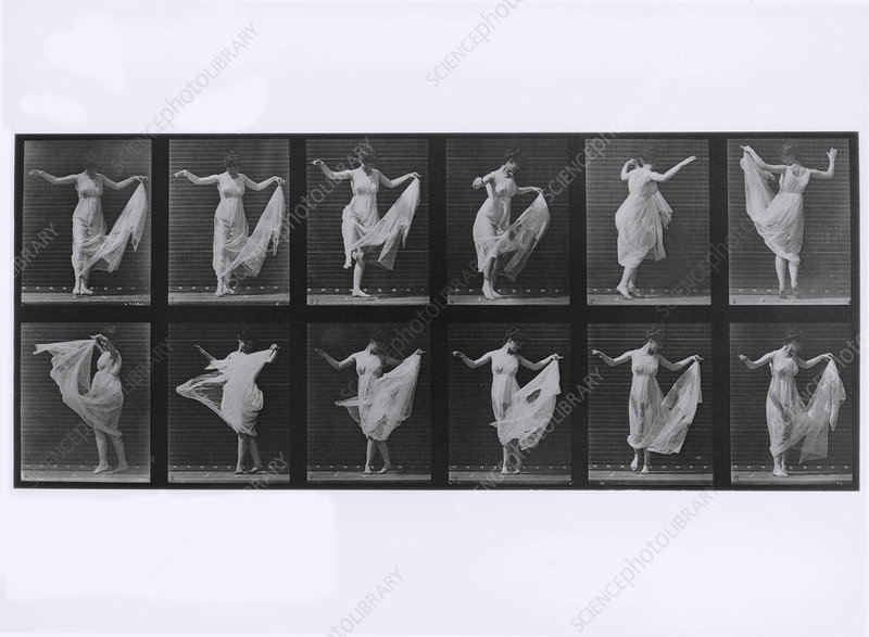 High-speed sequence of a woman doing a pirouette