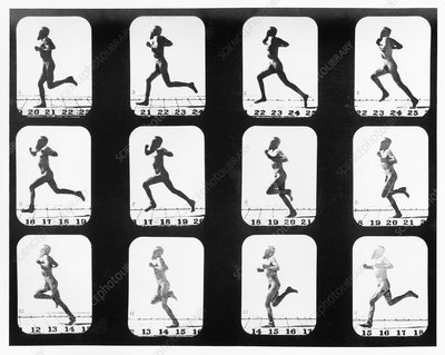 High-speed sequence of a man running