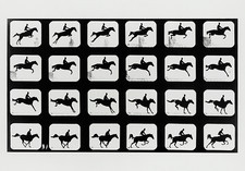 High-speed sequence of a silhouetted jumping horse