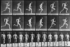 Muybridge photo sequence of a running man