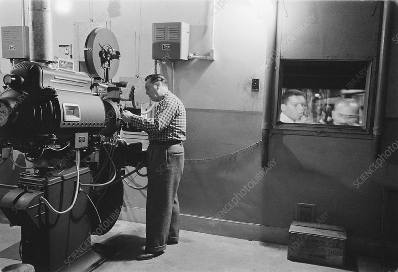 1950s film projector
