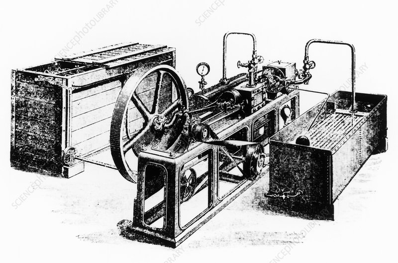 Atlas compression ice-making machine of 1875