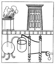 Diagram of a device for opening doors