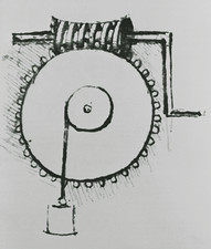 Historical artwork of a worm gear by da Vinci