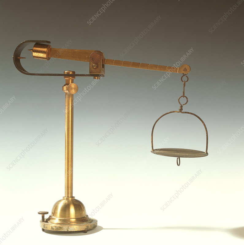 Historical weighing scales