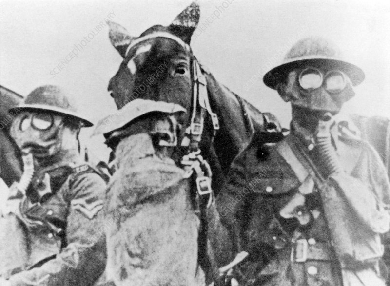 WWI gas masks