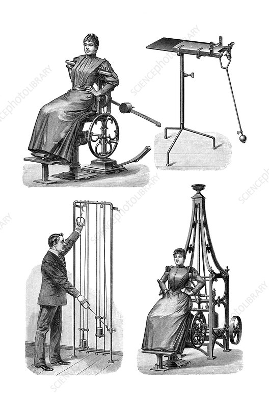 Victorian gymnasium equipment
