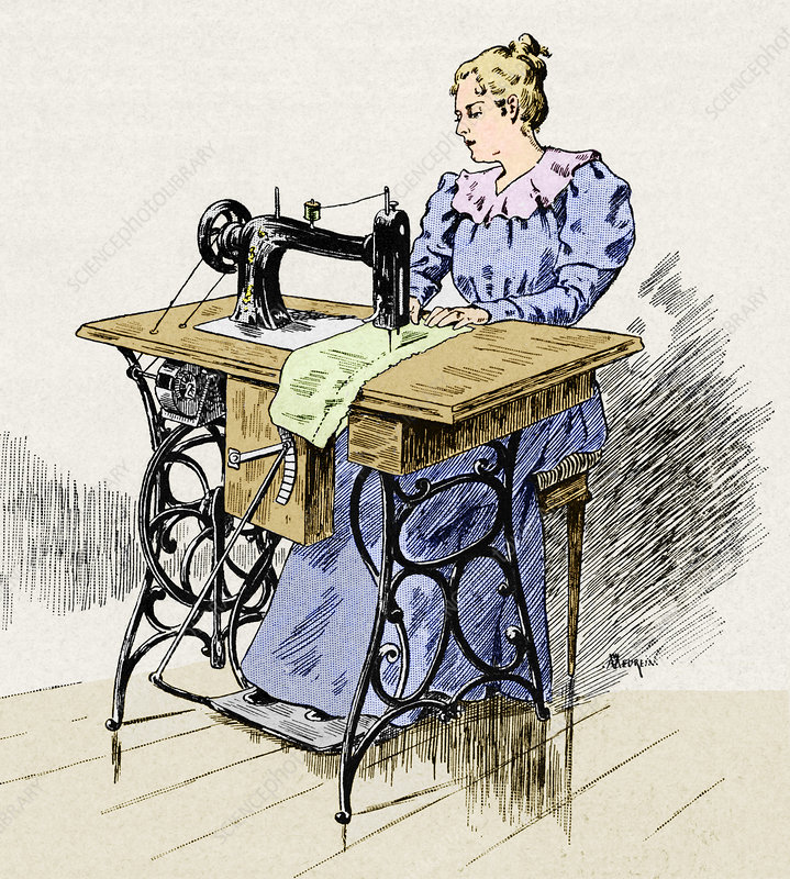 Electrical sewing machine, 1900