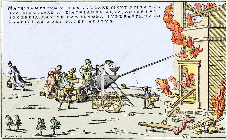 Early firefighting equipment, 1569