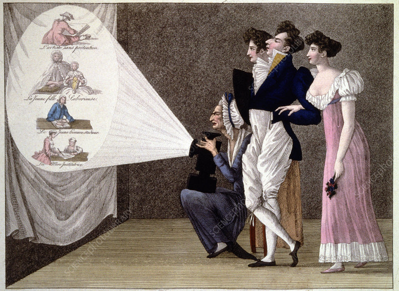 Magic lantern session, Paris, 1810