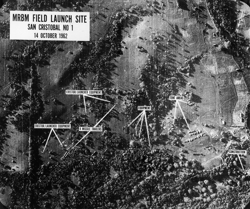 Cuban Missile Crisis of 1962, aerial view
