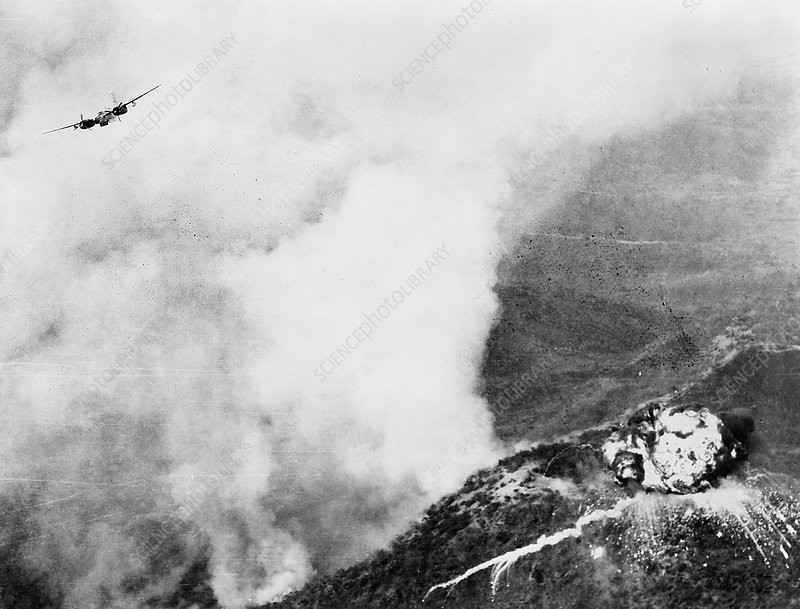 Napalm bombing, Korean War, 1951
