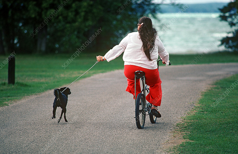 Woman Exercising Her Dog