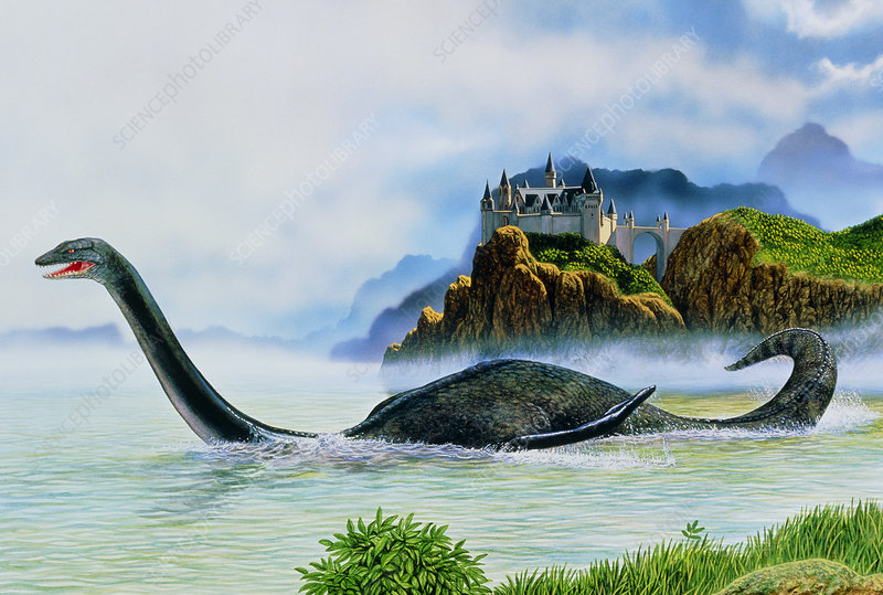 Artwork of the Loch Ness Monster