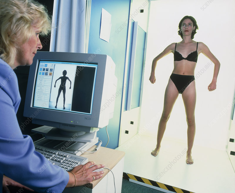 Computer Measuring Woman S Body For Fashion Design Stock Image P870 0129 Science Photo Library