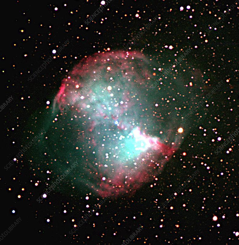 Dumbbell Planetary Nebula M27 Stock Image R700 0132