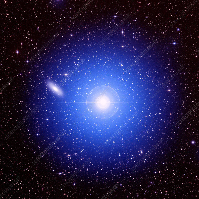 Galaxy and star - Stock Image - R820/0375 - Science Photo